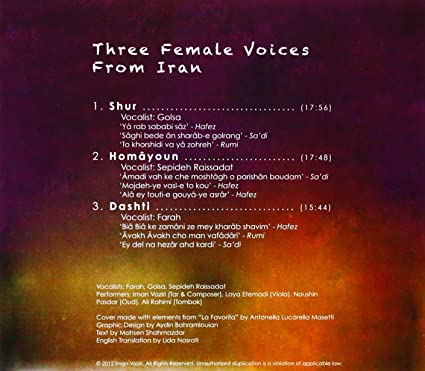 Three Female Voices From Iran - Three Female Voices from