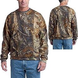 Russell Outdoors Mens Realtree AP Camo Long Sleeve Hunting Sweatshirt M L  XL 2XL 3XL (XLarge 0226adf4b949