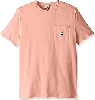 Nautica Men's Solid Crew Neck Short-Sleeve Pocket T-Shirt