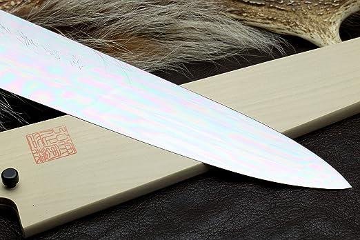 Amazon.com: Yoshihiro Mizu Yaki Honyaki - Cuchillo de chef ...