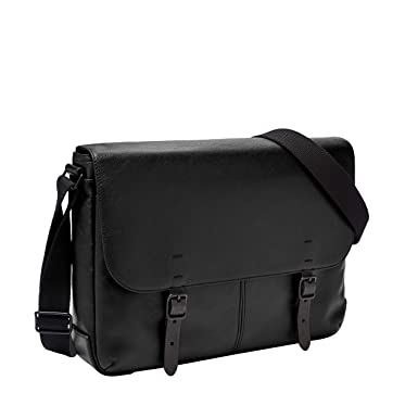 5b89ae9c40b9 Fossil Men s Buckner Messenger Black Laptop Bag