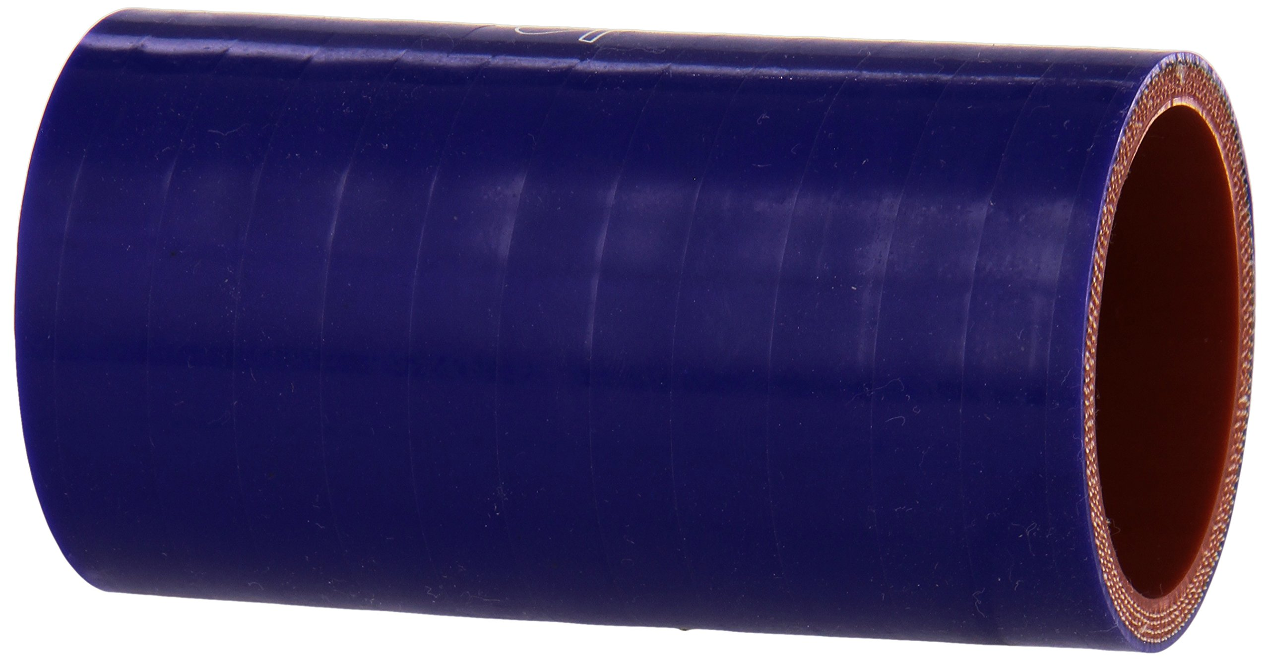 HPS HTSC-175-L4-BLUE Silicone High Temperature 4-ply Reinforced Straight Coupler Hose, 100 PSI Maximum Pressure, 4'' Length, 1-3/4'' ID, Blue