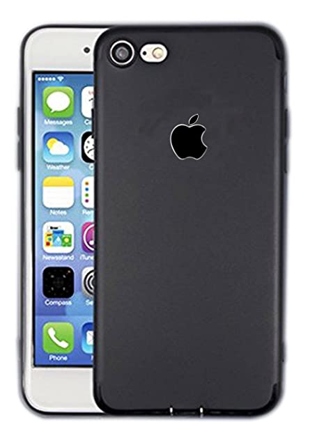 more photos 6cbb1 6952b Matte Black Paper Cover for Apple iPhone 6/6S, 7: Amazon.in: Electronics