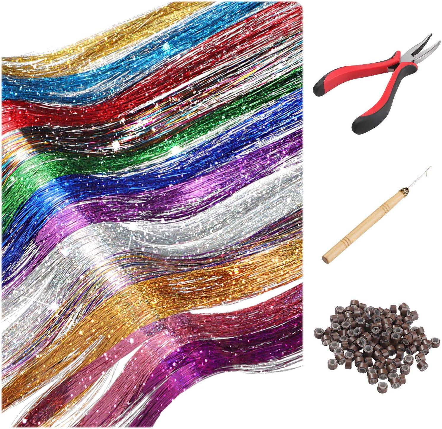 Bindematerial Tinsel Flash Hair UV-Violett