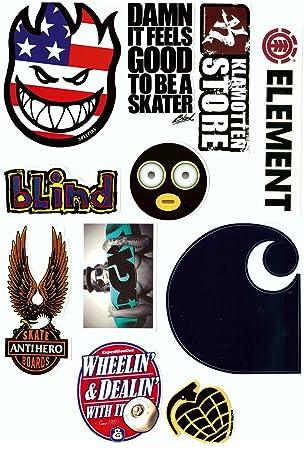 Skate Marken Aufkleber 10 Sticker Im Set Streng Limitiert