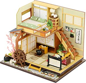 Kisoy Miniature DIY Dollhouse Kit with Furniture Accessories Creative Gift for Lovers and Friends(Karuizawa's Forest Holiday) with Dust Proof Cover and Music Movement