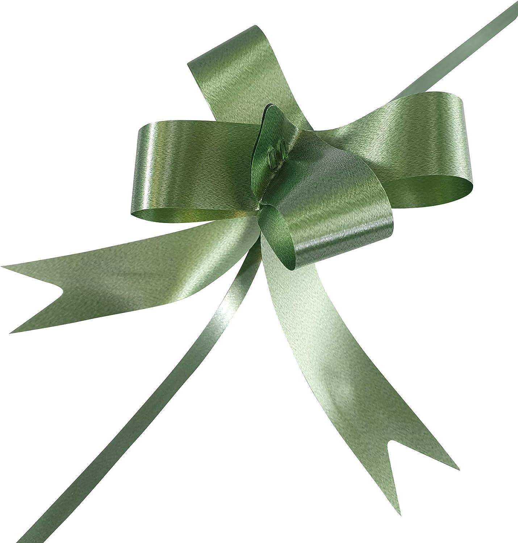 INERRA Lazos - Pack de 20 - para Boda Navidad y Regalo Envoltorio 20mm - Verde Oscuro: Amazon.es: Hogar