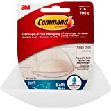 Command Bath Soap Dish With Water-Resistant Adhesive, 2 lb Capacity, 1 Dish, 2 Strips, BATH14-ES