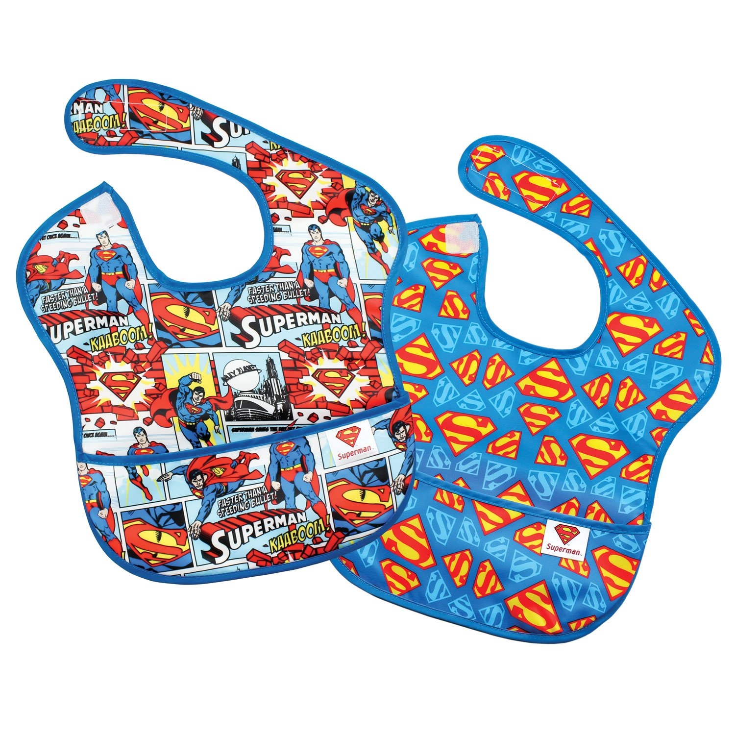 Bumkins Baby Bib, Disney Waterproof SuperBib 2 Pack, Mickey Mouse (Classic/Icon) (6-24 Months) S2-DMK1