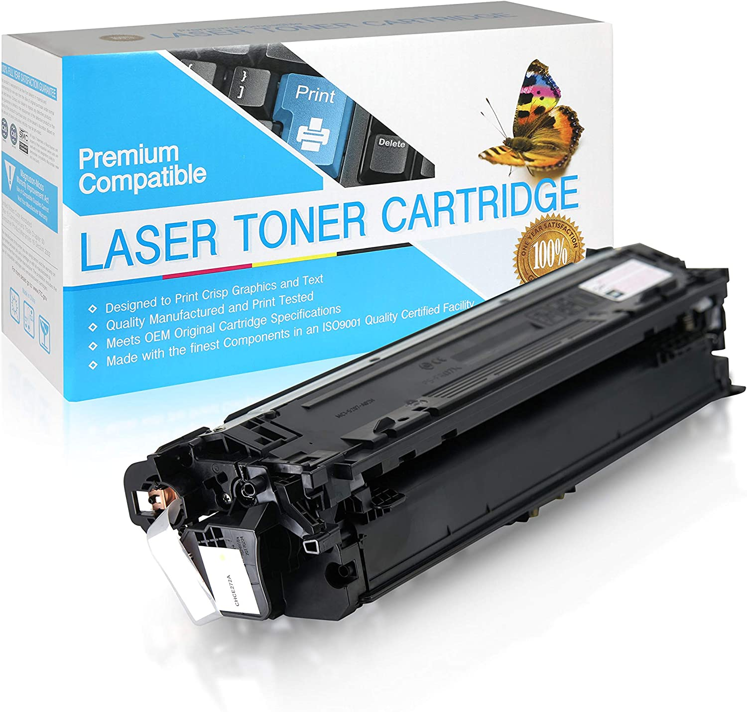 Supply Spot Compatible CE272A Yellow Toner Cartridge 650A