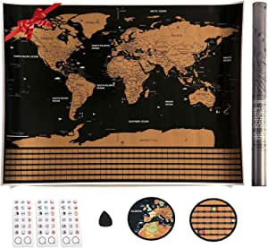 VEOMAPPY® Mapa Mural para Rascar del Mundo 830*590mm - Rascar ...