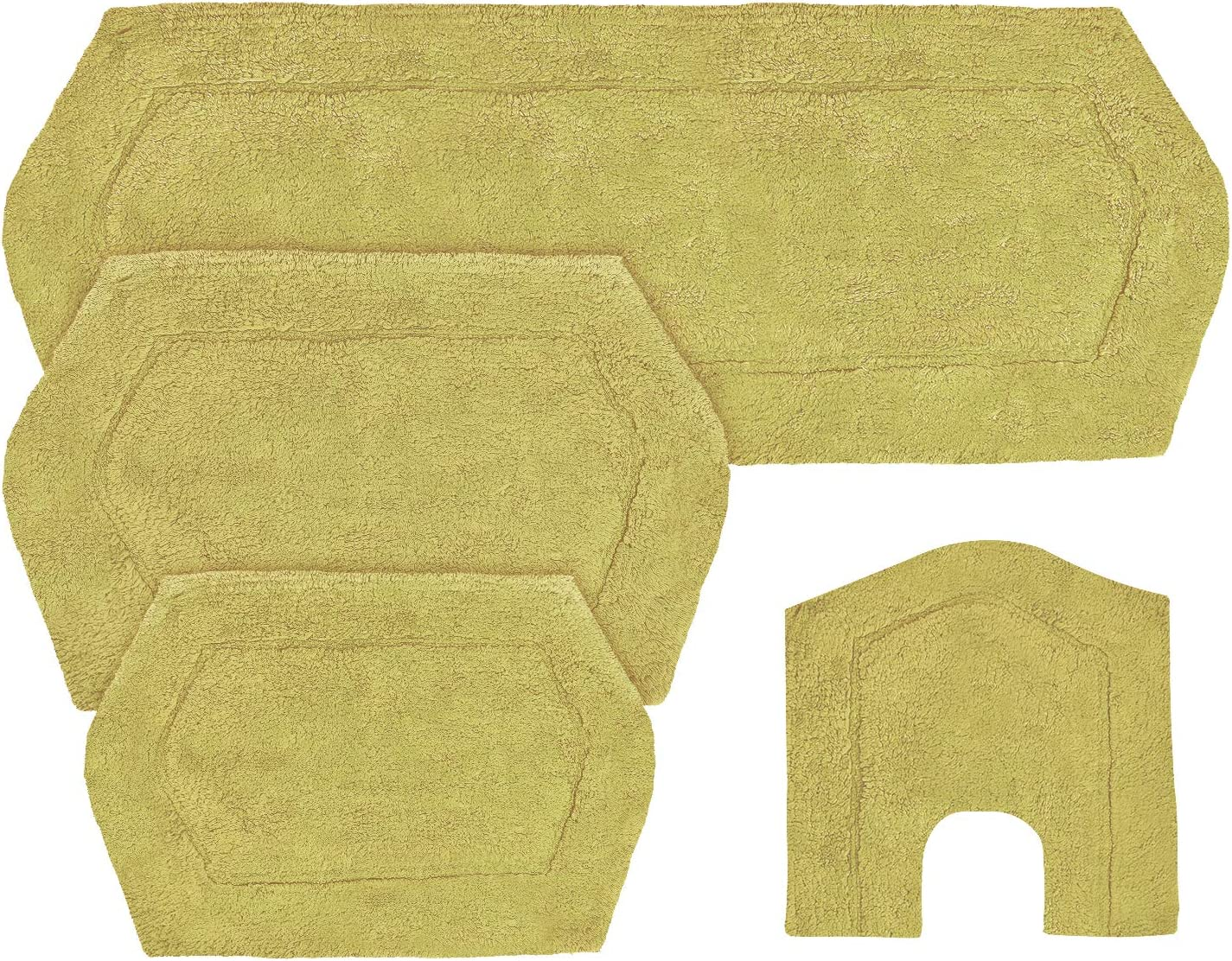 Amazon Com Home Weavers Waterford Collection Absorbent Cotton Soft Rug Machine Wash Dry 17 X24 21 X34 20 X20 22 X60 Sage Home Kitchen