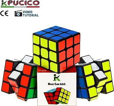 Pucico Cubo magico 3x3 Original Speedcube de Ultima generacion | Cube Profesional Puzzle de Velocidad Juego Mental para Niños y Adultos | Rompecabezas Antiestres No toxico Facil Giro Super Duradero: Amazon.es: Juguetes