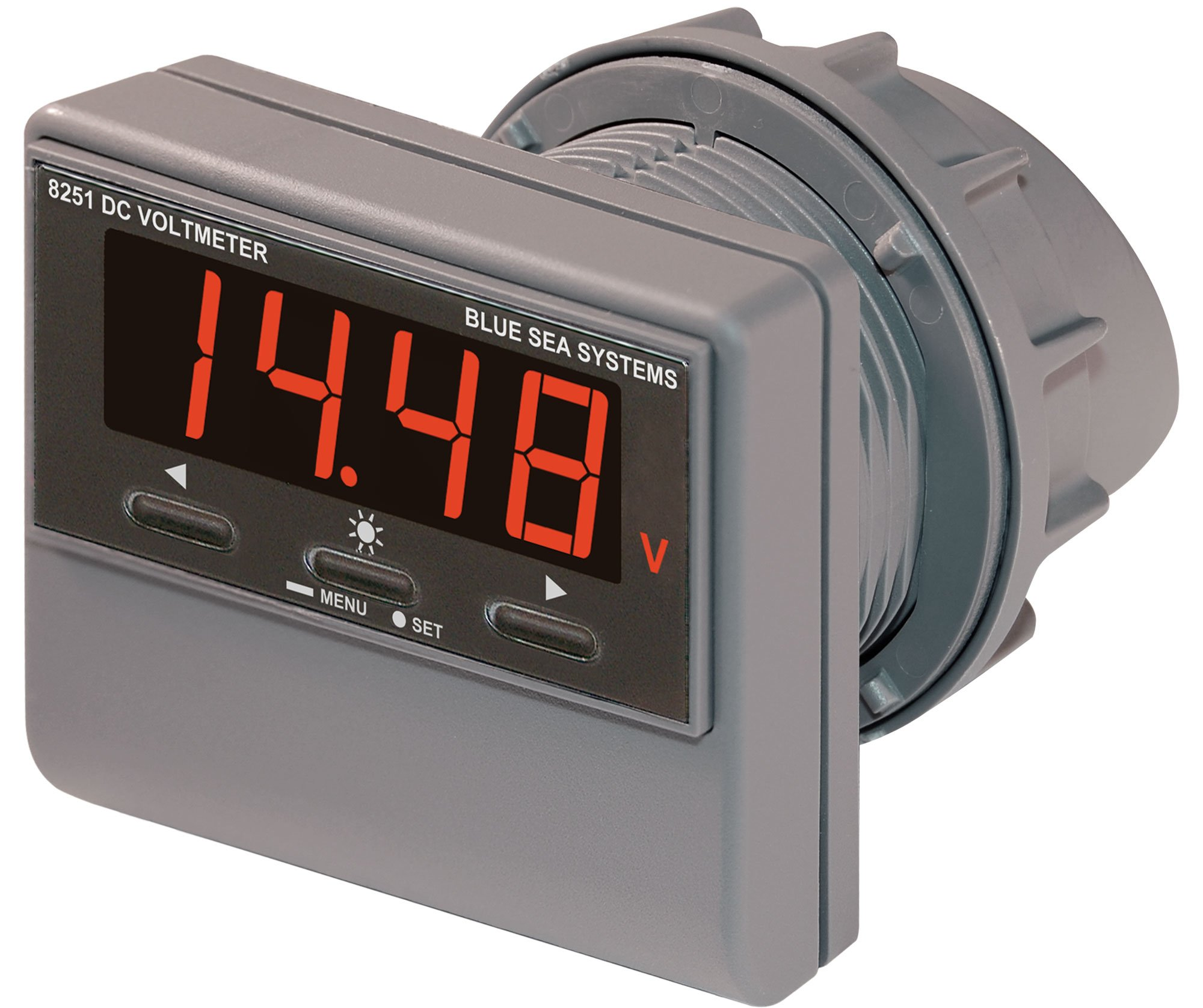 Blue Sea Systems 8251 DC Digital Voltmeter with Alarm