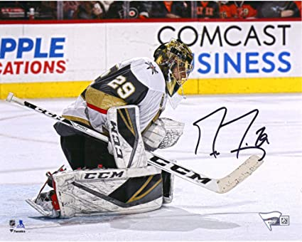Marc-Andre Fleury Vegas Golden Knights Autographed October 10 2017 Inaugural Opening Night Official Game Puck Fanatics Authentic Certified