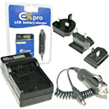 Ex-Pro® Canon BP-808, BP-820, BP-828, CG-800E, CG-800B - LCD Indication Fast Charge Travel Battery Charger for Canon Camcorder HF G30, XA20, XA25