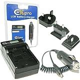 Ex-Pro® Panasonic DMW-BLC12E, DMW-BLC12, DE-A79B, DE-A79 - Indicateur LCD de charge rapide Appareil Photo Numérique Chargeur de Voyage pour Panasonic Lumix DMC-GH2