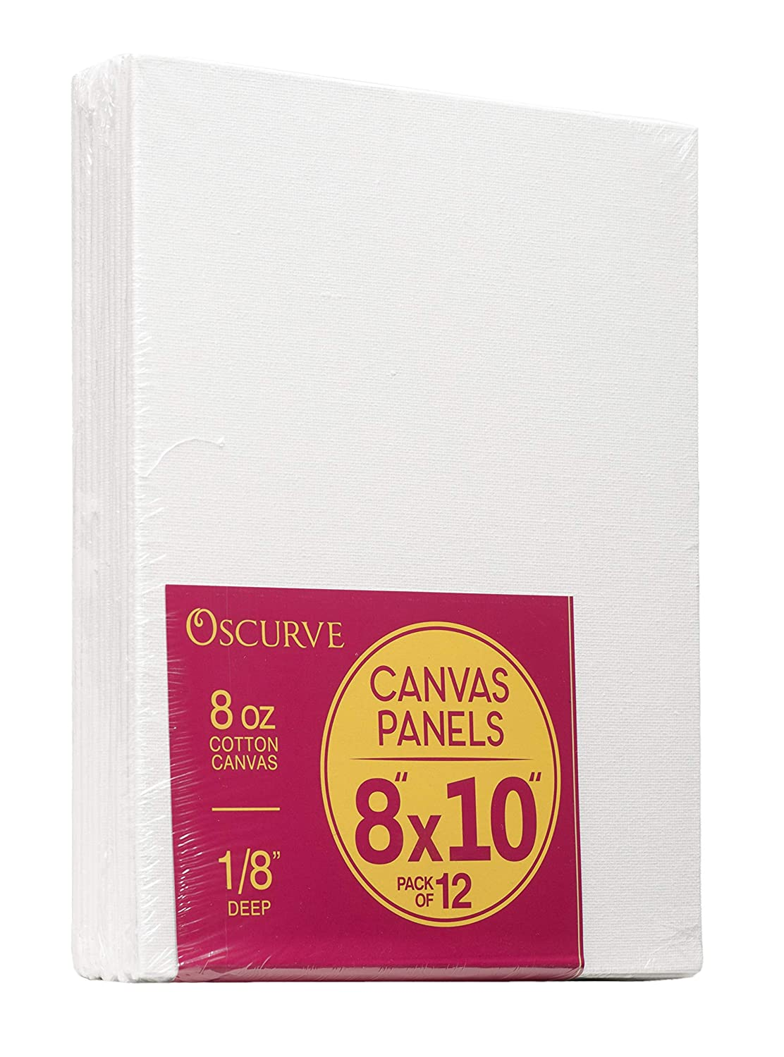 Art Projects Canvas Panels 8x10 100/% Cotton and Suitable for Professional Artists /& Hobby Painters Great for Canvas Party Pack of 12