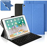 iPad Pro 10.5 Keyboard Case with Built-in Apple Pencil Holder, Ultra-Thin Stand Case Cover with Magnetically Detachable Wireless Bluetooth Keyboard for Apple iPad Pro 10.5 2017 Tablet - Blue