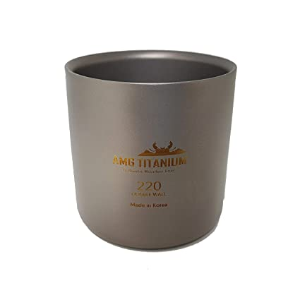 Amazon.com: AMG - Taza de agua de doble pared, titanio, 220 ...