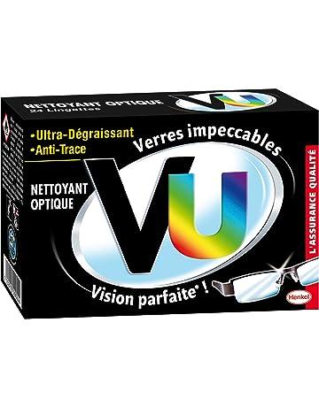 bf2c67738beafa VU - Lingettes Nettoyant optique Ultra Dégraissant et Anti Trace- Etui de  24 Pochettes