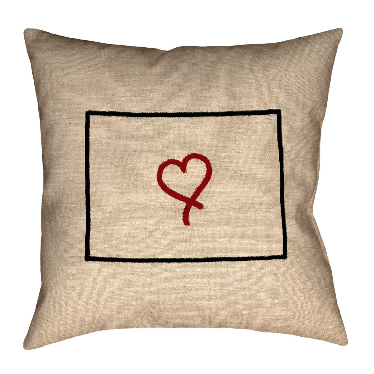 ArtVerse Katelyn Smith 36 x 36 Floor Double Sided Print with Concealed Zipper /& Insert Colorado Love Pillow
