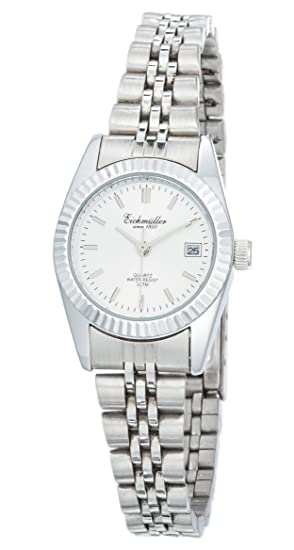 Eichmüller - Acero inoxidable Mujer Reloj eslabones Reloj de pulsera en plata Fecha Miyota de 2015: Amazon.es: Relojes