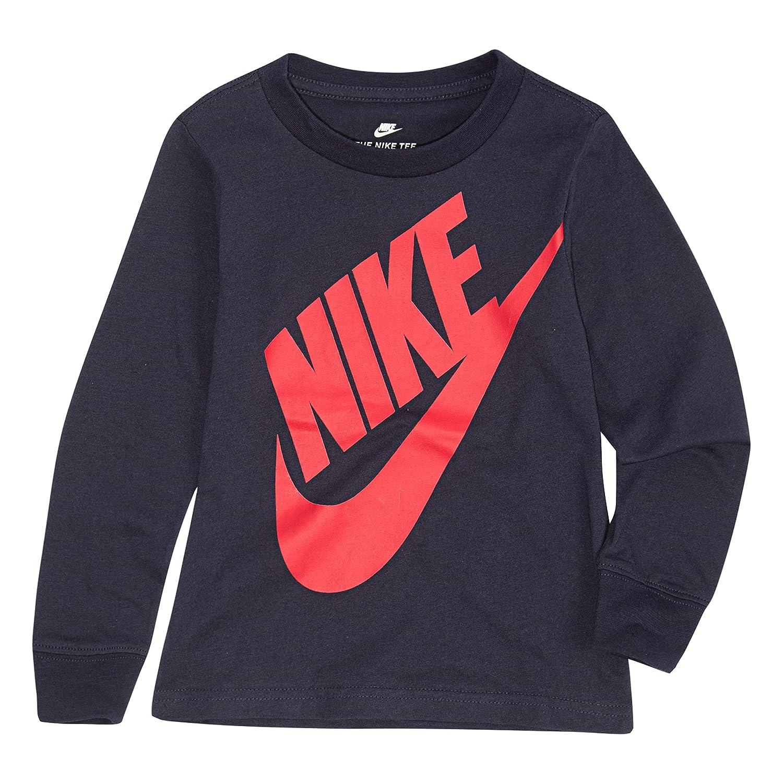 6d69edc3 Amazon.com: NIKE Children's Apparel Boys' Long Sleeve Sportswear Graphic  T-Shirt: Clothing