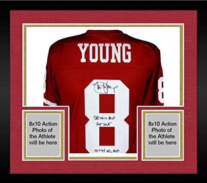 0c4ccb31 Framed Steve Young San Francisco 49ers Autographed Red Replica ...