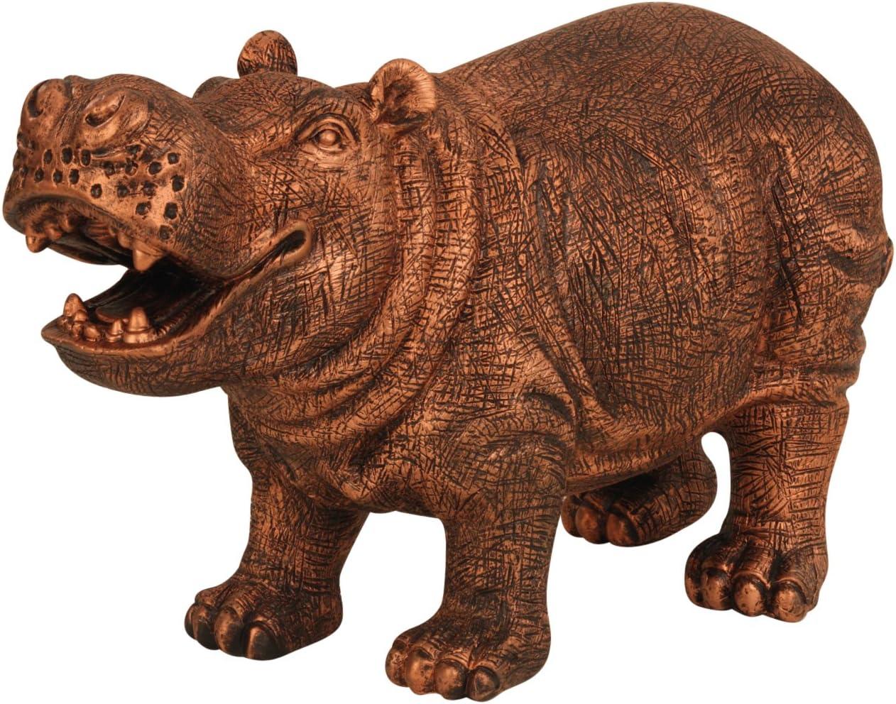 Brubaker Hippopotame Sculpture 17 32/x 10 160/cm Bronze pour maison ou jardin