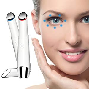 Eye Massager, SODPE facial massager with 42℃ Heat & Sonic Vibration for Dark Circles, Puffiness and Eye Fatigue, Anti-wrinkle, Two Modes, USB Rechargeable eye roller anti aging skin products