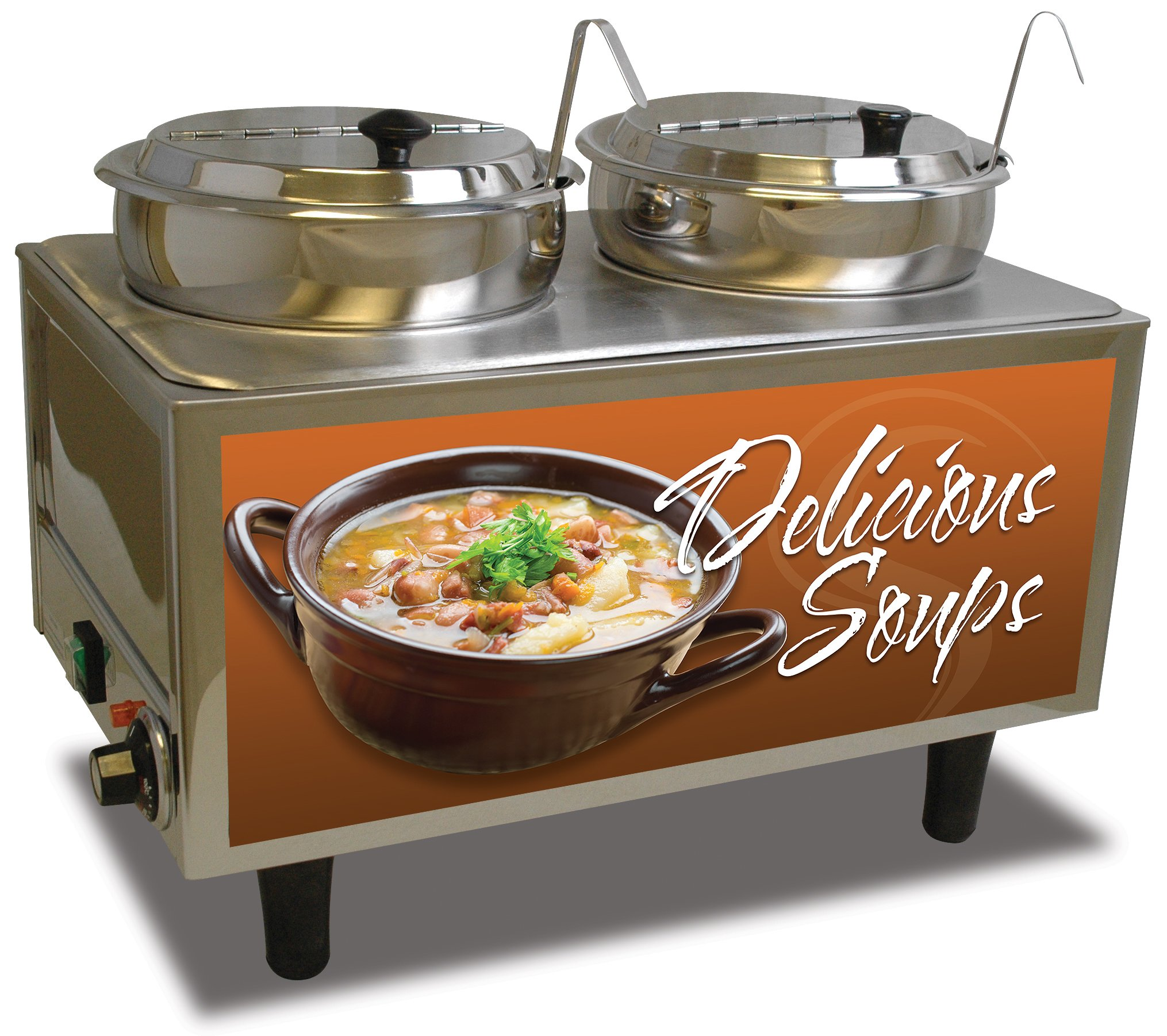 Benchmark USA 51072S Soup Station Warmer, 17'' H, 13'' W, 21'' L, Stainless Steel