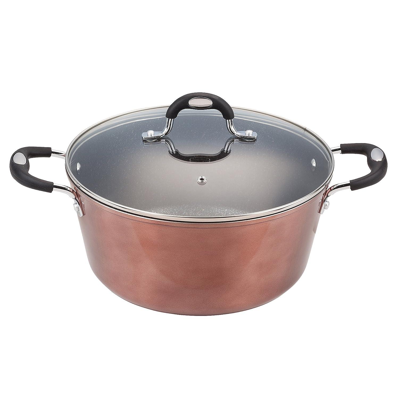 San Ignacio Casserole Dish with Lid, Cast Aluminium, copper, 28cm Q2371