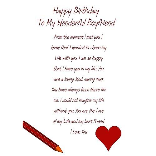 Birthday Cards For Boyfriend Amazoncouk