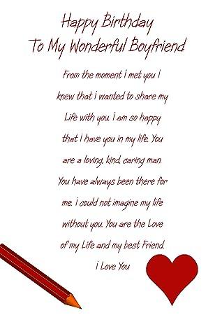 Boyfriend Birthday Card Amazon Office Products