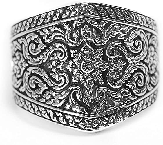 Bishilin Ring for Men Silver Plated with Engraving Totom Friendship Rings Silver Size 7