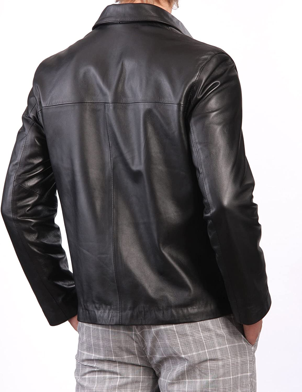 Kingdom Leather Mens Genuine Cow Leather Jacket Slim Fit Biker Motorcycle Jacket XC203
