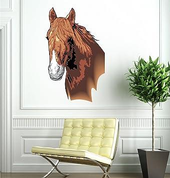 Pferd Farbige Wand Aufkleber, Vinyl, 45 Cm X 72 Cm, Klammergerät