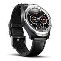 TicWatch Pro Bluetooth Smart Watch, Layered Display technology, NFC Payments, Google Assistant, Android Wear, Compatible with iOS and Android (Silver)