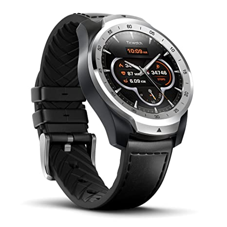 Ticwatch Pro Bluetooth Smart Watch, Mehrschichtiges Display, Herzfrequenz und NFC-Zahlungen basierend auf Google Wear OS, kom