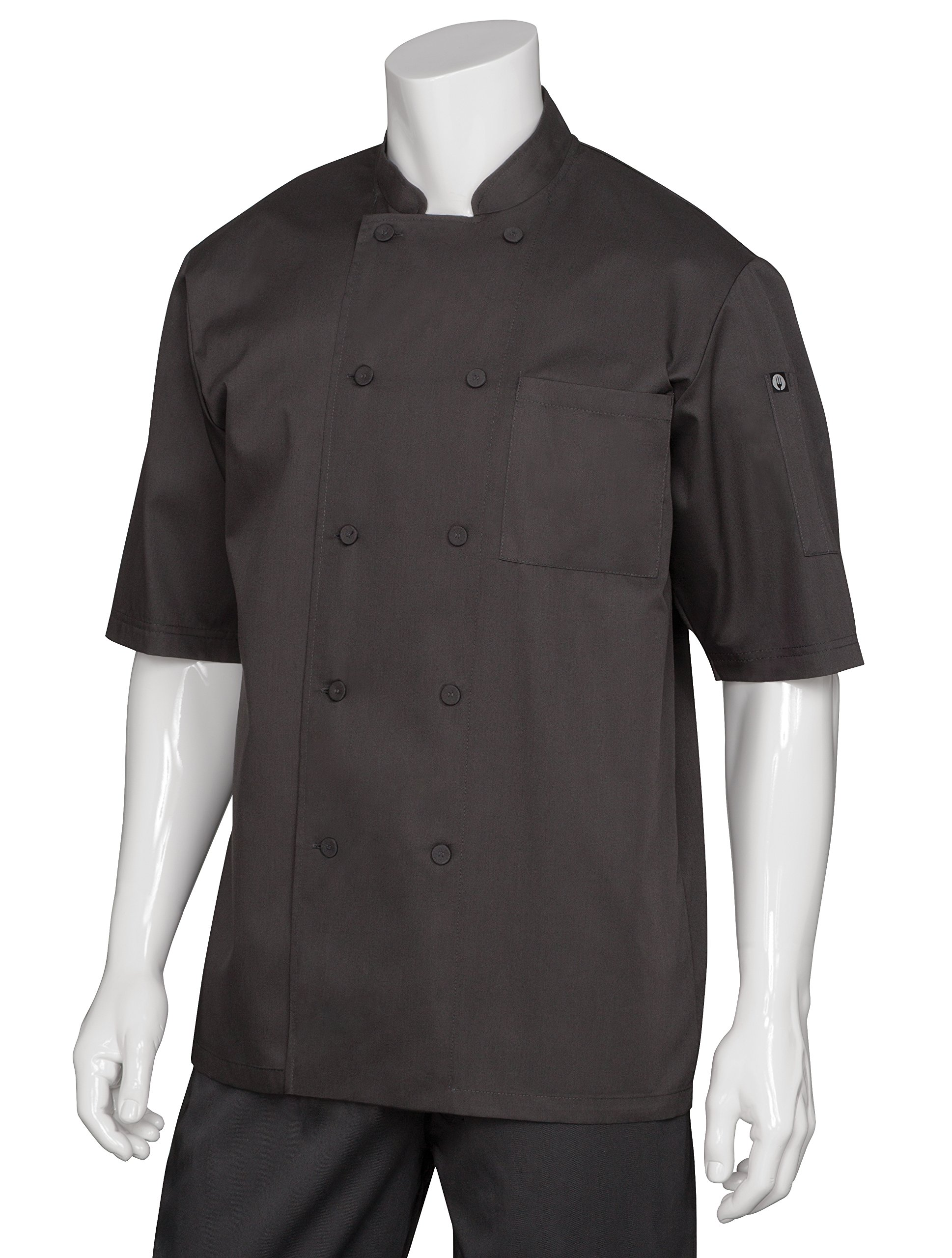 Chef Works Men's Montreal Cool Vent Chef Coat, Black, 2X-Large by Chef Works