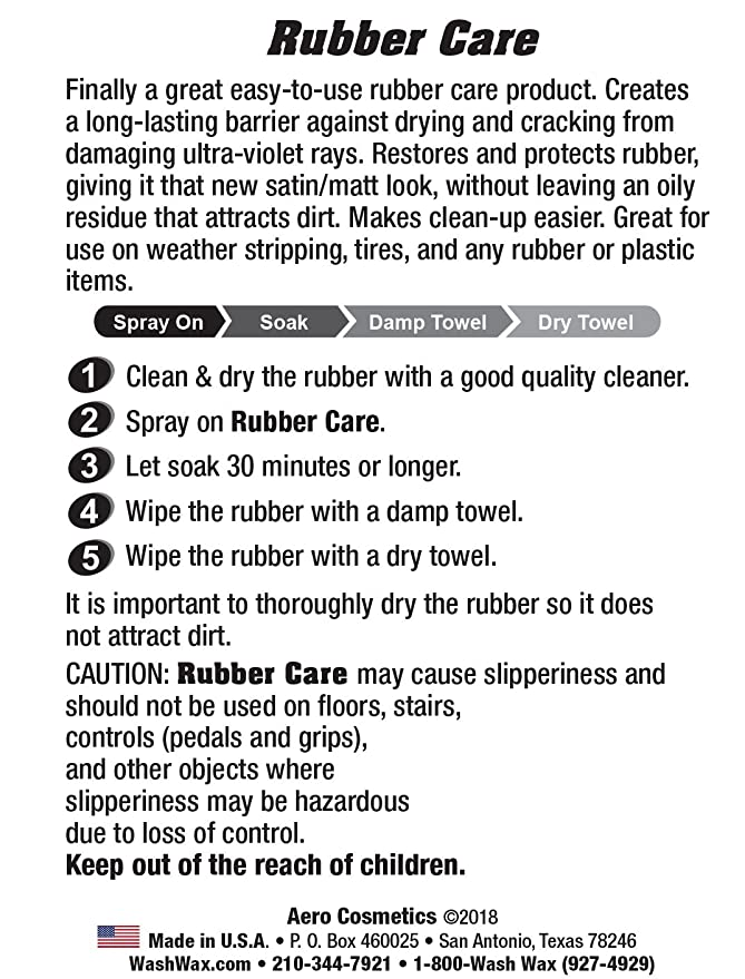 Tire Dressing, Tire Protectant, No Tire Shine, No Dirt Attracting Residue,  Natural Satin/Matte Finish, Aircraft Grade Rubber Tire Care Conditioner,