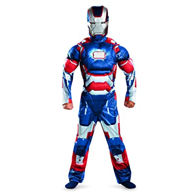Marvel Iron Man 3 Patriot Boys Classic Muscle Costume, 10-12: Toys & Games
