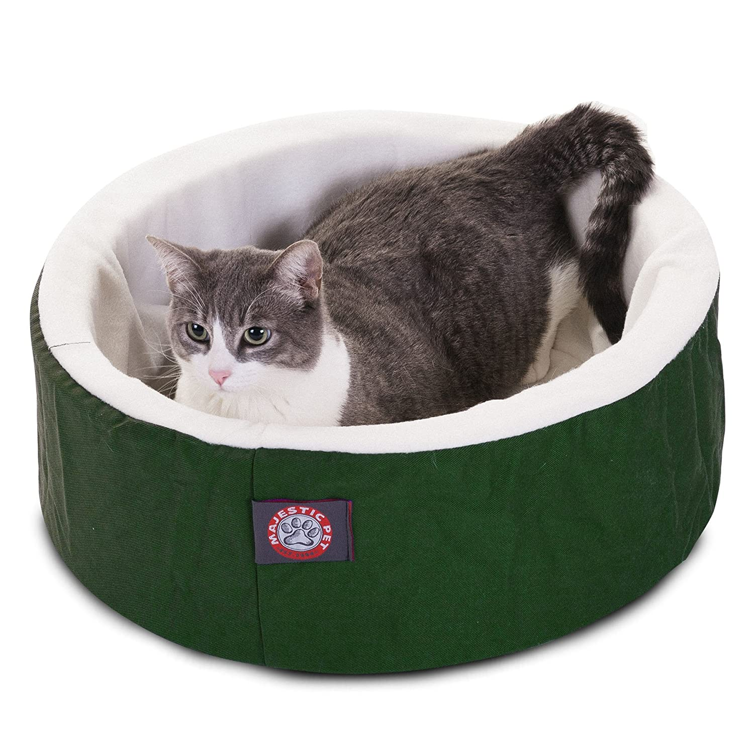 Green 16-Inch Green 16-Inch Majestic Pet 16-Inch Cat Cuddler Pet Bed, Green