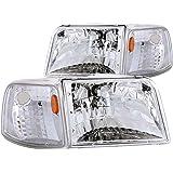 Anzo USA 111119 Ford Ranger - Conjunto de faros delanteros transparentes con esquinas ámbar (se vende en pares)