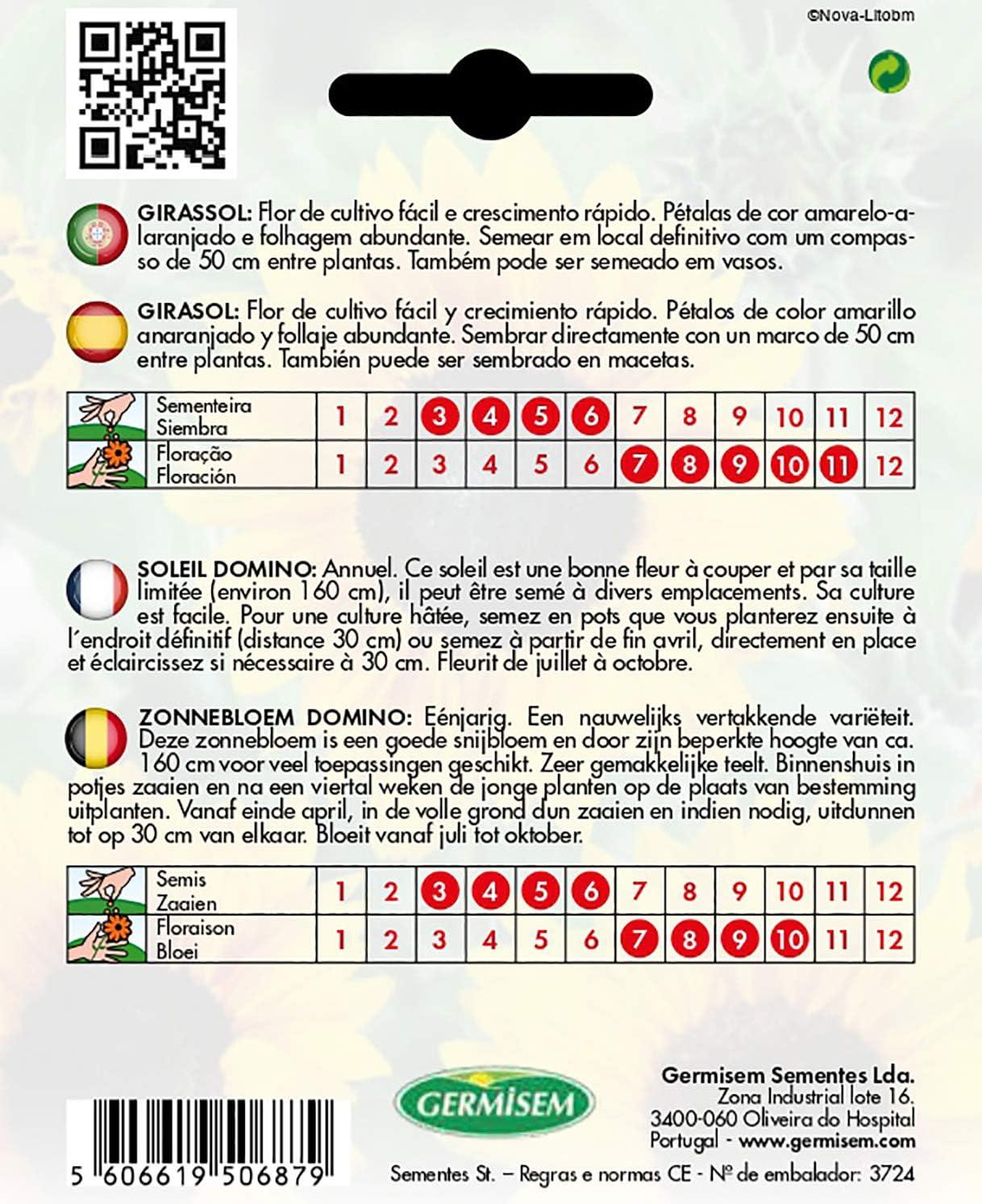 Germisem Domino Semillas de Girasol 2 g EC1533