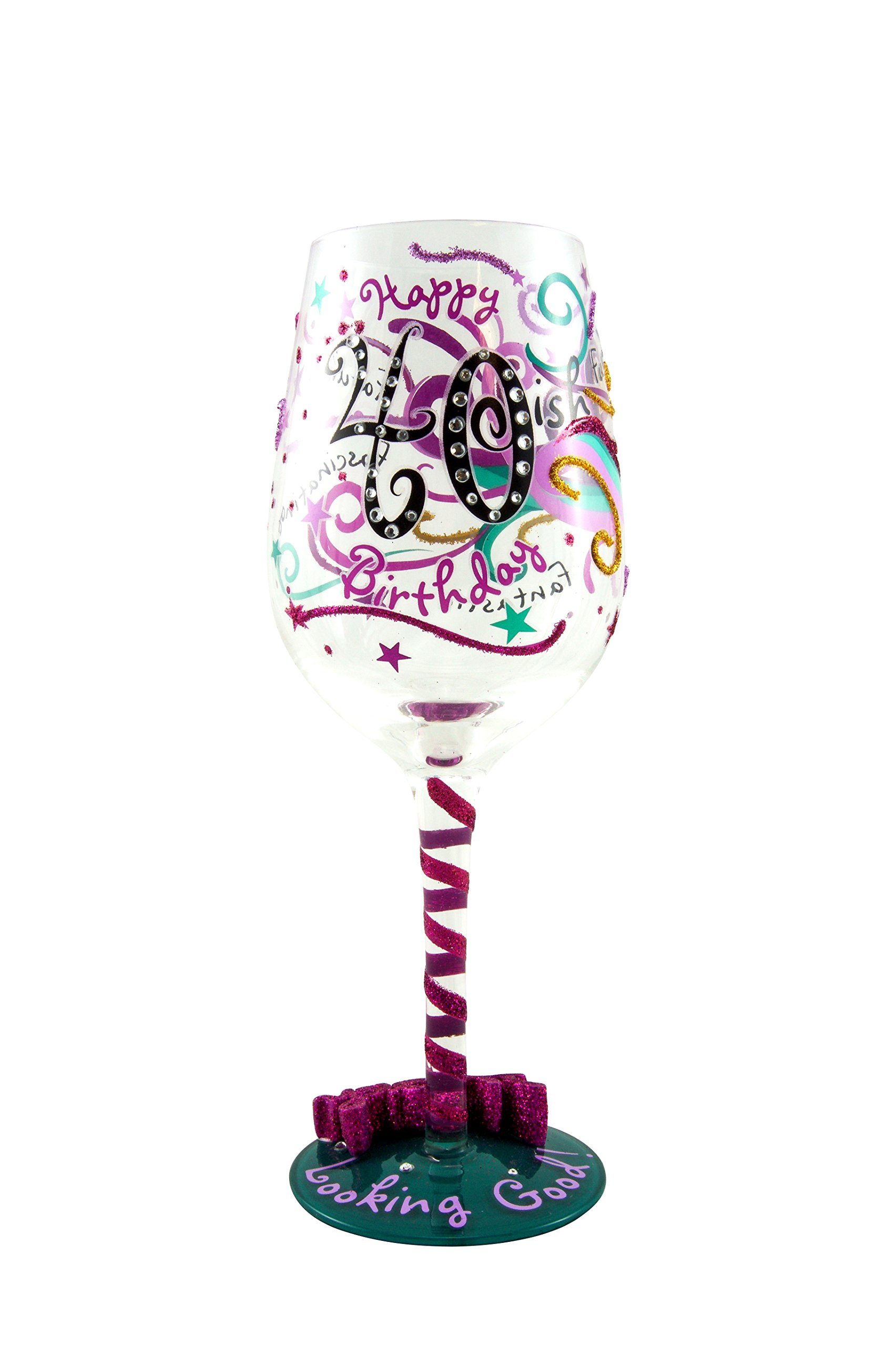 40-ish Birthday Wine Glass – Gift Ideas for Wine Enthusiasts
