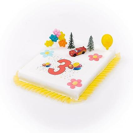 Decoracin para tartas Cars 3 Cumpleaos Nio de 9 piezas tarta 3