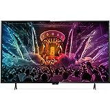 Philips 55PUS6101/12 Ultraflacher 4K Smart 139 cm (55 Zoll) LED-Fernseher mit Pixel Precise Ultra HD dunkelsilber/schwarz