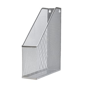 3 x Executive Mesh Magazine File Rack - Silver pk3
